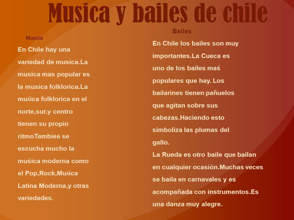 Musica y bailes de chile
