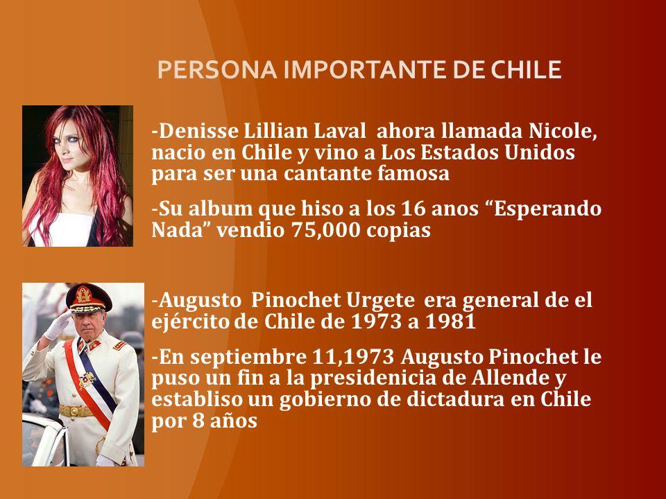 PERSONA IMPORTANTE DE CHILE