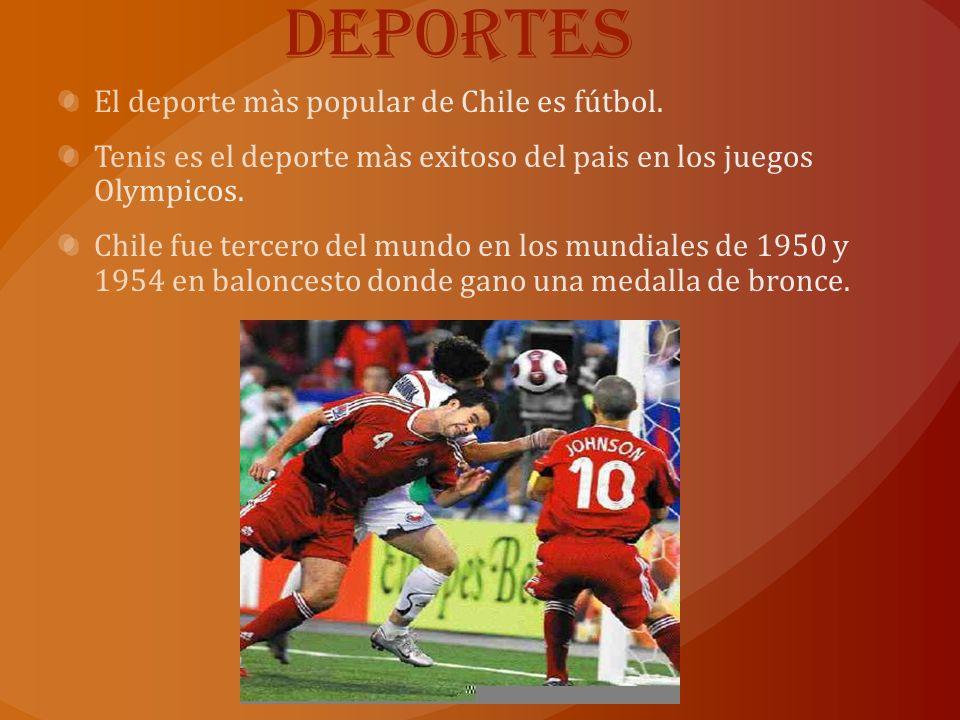Deportes El deporte màs popular de Chile es fútbol.