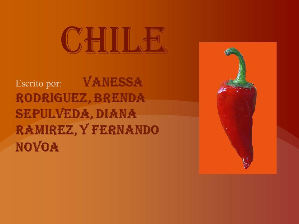Chile Escrito por: Vanessa Rodriguez, Brenda Sepulveda, Diana Ramirez, y Fernando Novoa