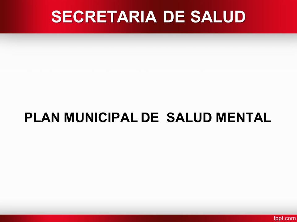 PLAN MUNICIPAL DE SALUD MENTAL