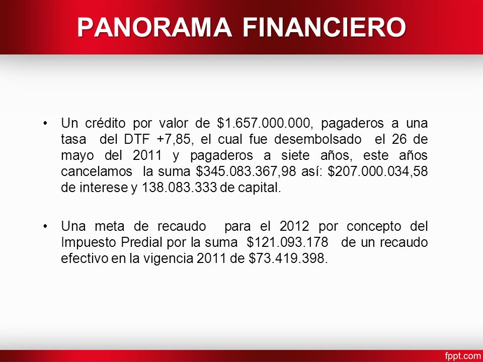 PANORAMA FINANCIERO