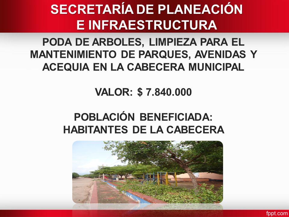 SECRETARÍA DE PLANEACIÓN E INFRAESTRUCTURA