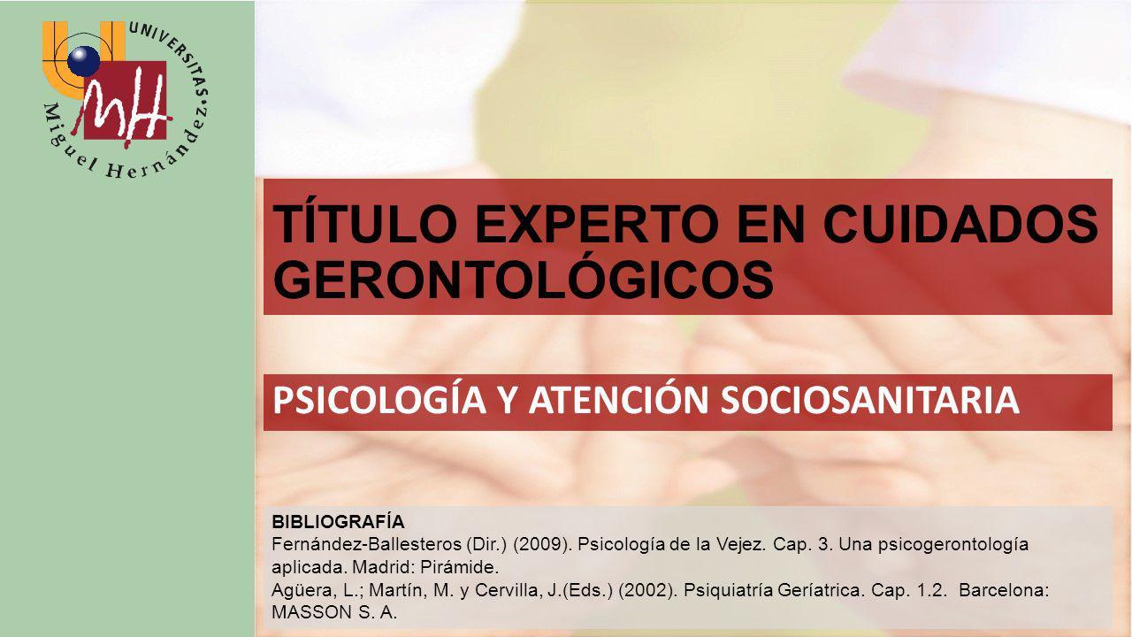 TÍTULO EXPERTO EN CUIDADOS GERONTOLÓGICOS