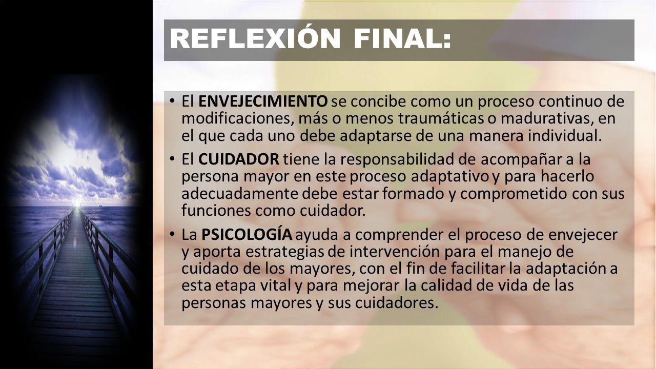 REFLEXIÓN FINAL: