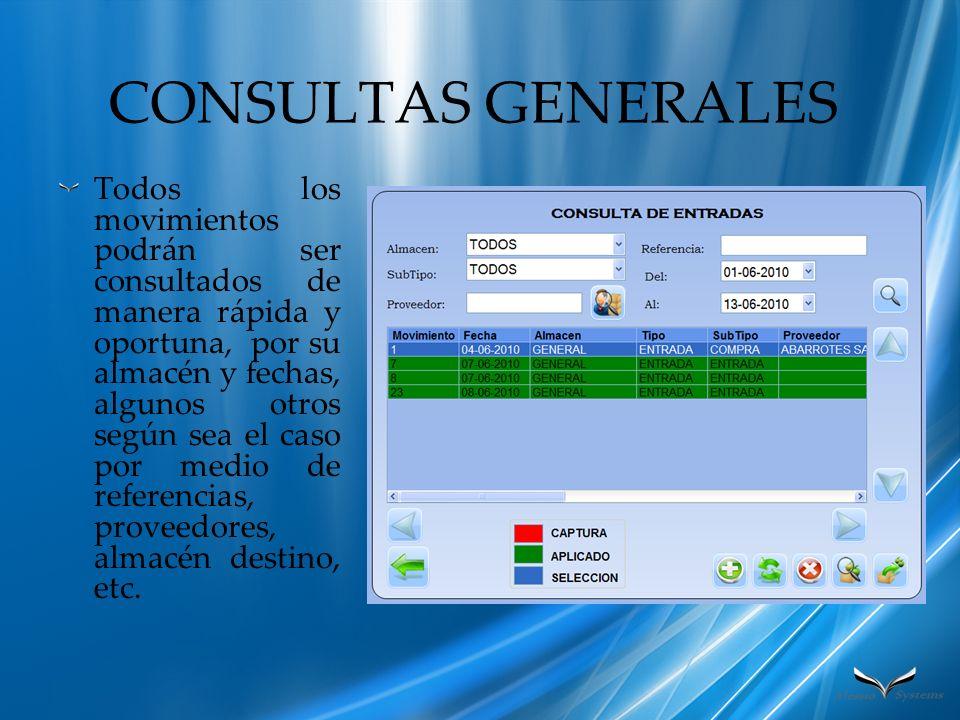 CONSULTAS GENERALES