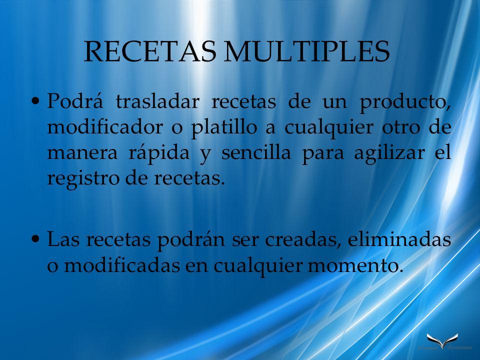 RECETAS MULTIPLES