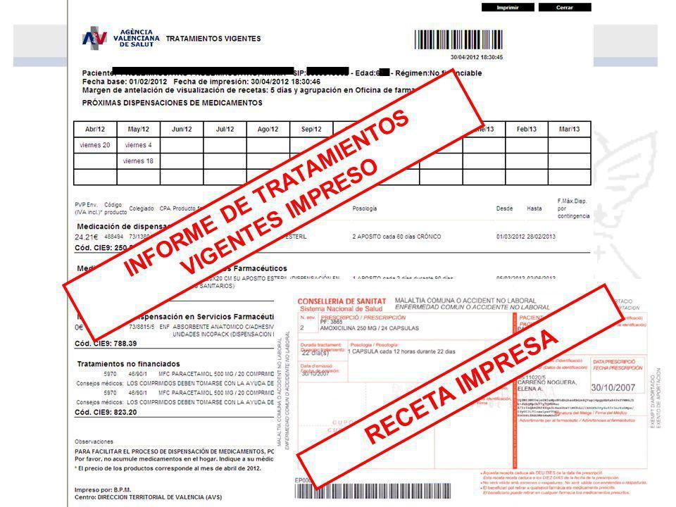 INFORME DE TRATAMIENTOS VIGENTES IMPRESO