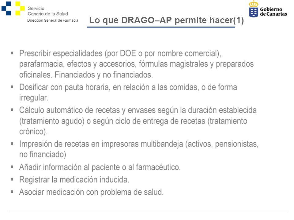 Lo que DRAGO–AP permite hacer(1)