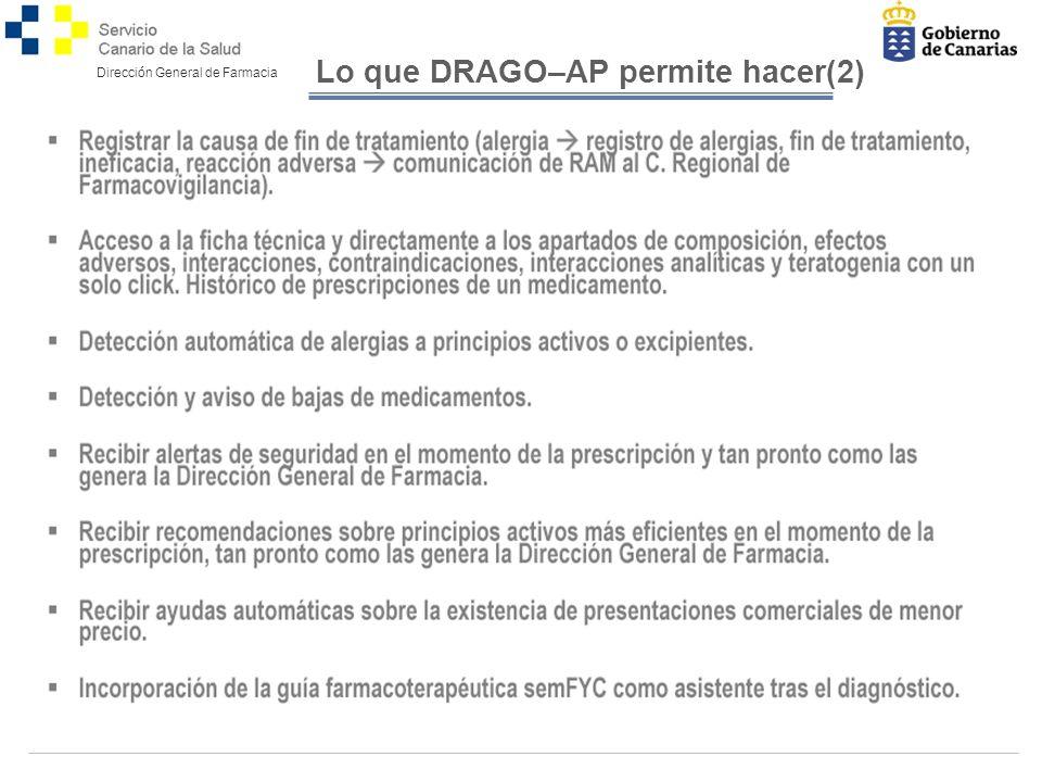 Lo que DRAGO–AP permite hacer(2)