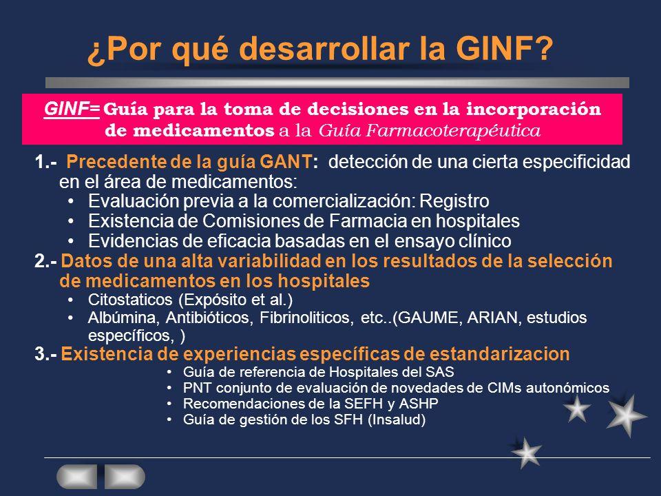 ¿Por qué desarrollar la GINF