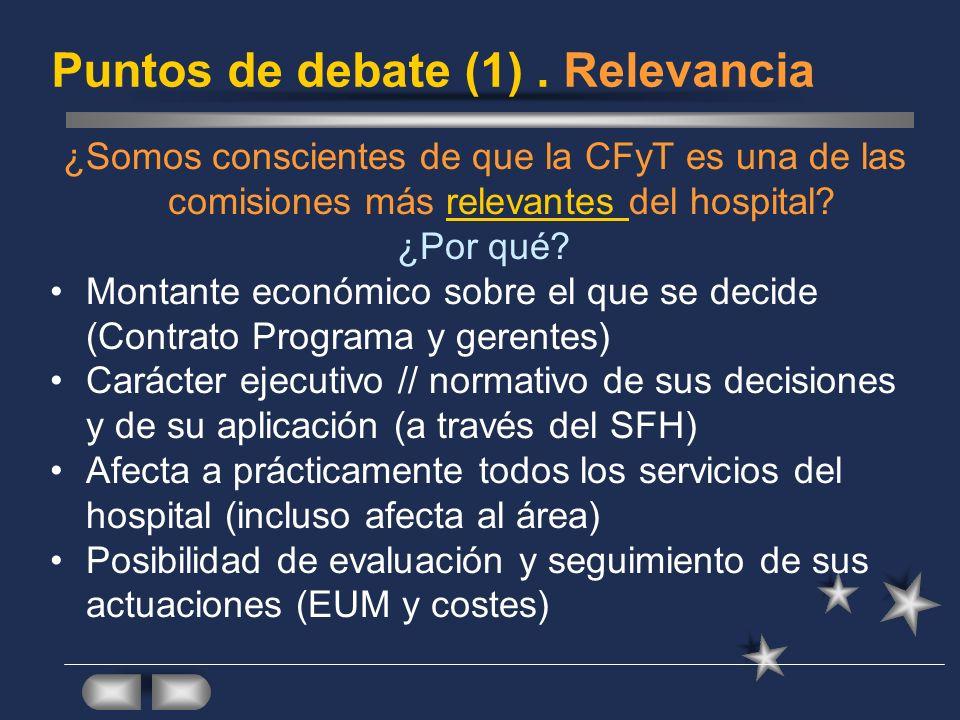 Puntos de debate (1) . Relevancia