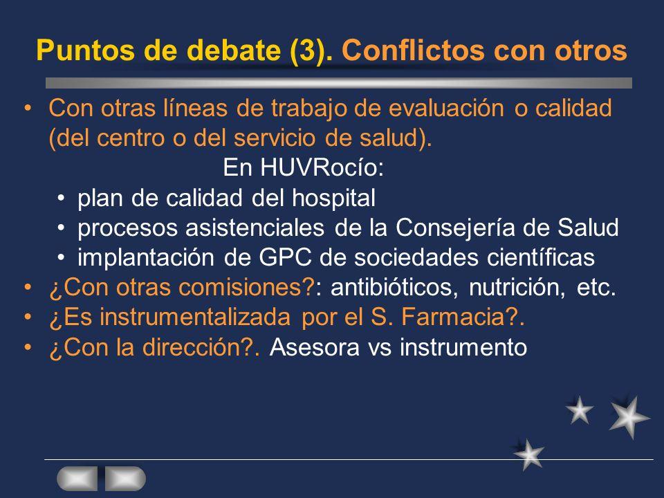Puntos de debate (3). Conflictos con otros