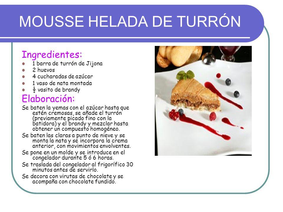 MOUSSE HELADA DE TURRÓN