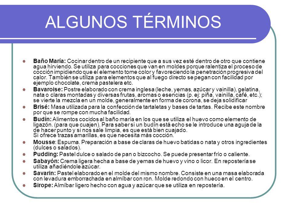 ALGUNOS TÉRMINOS