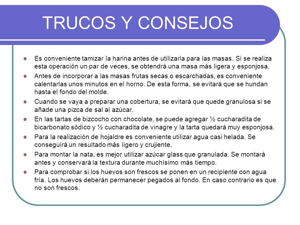 TRUCOS Y CONSEJOS