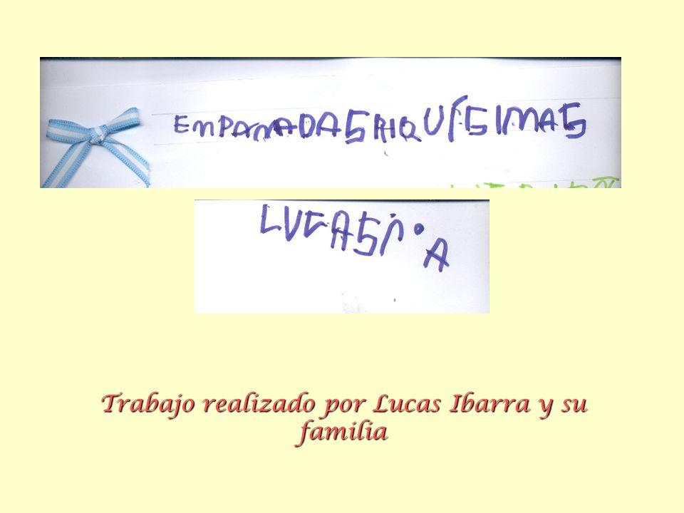 Trabajo realizado por Lucas Ibarra y su familia