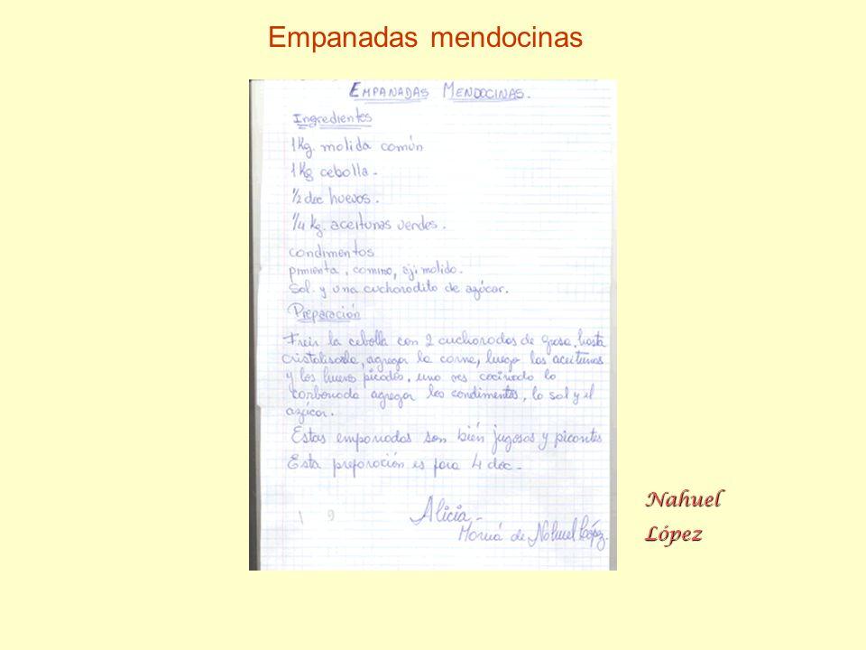 Empanadas mendocinas Nahuel López