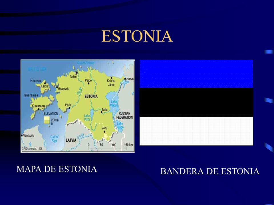 ESTONIA MAPA DE ESTONIA BANDERA DE ESTONIA