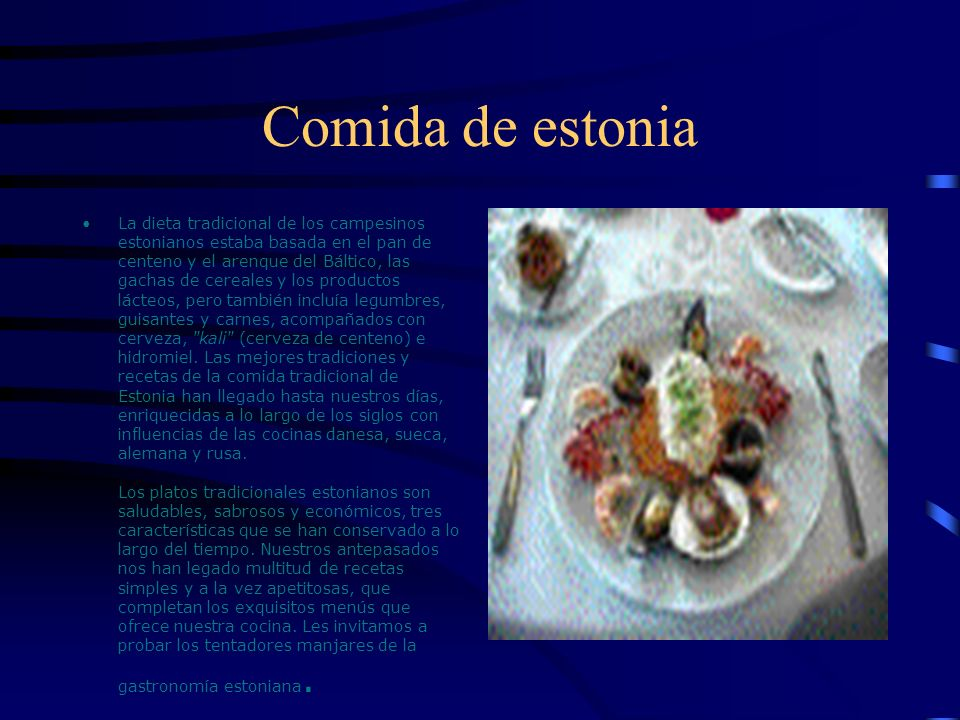 Comida de estonia