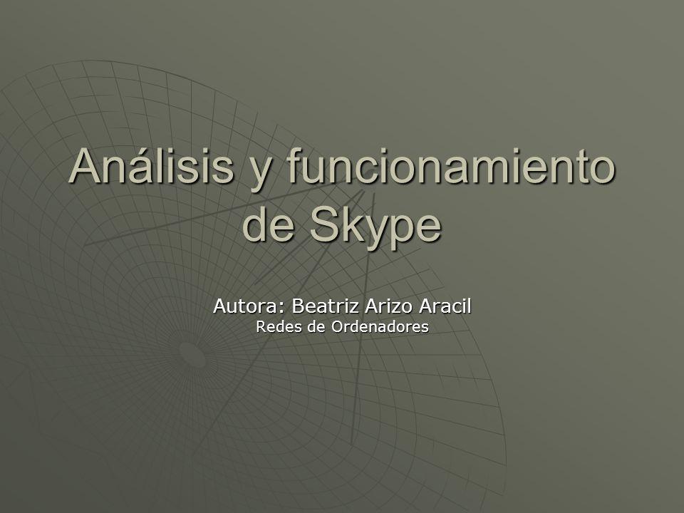 Análisis y funcionamiento de Skype
