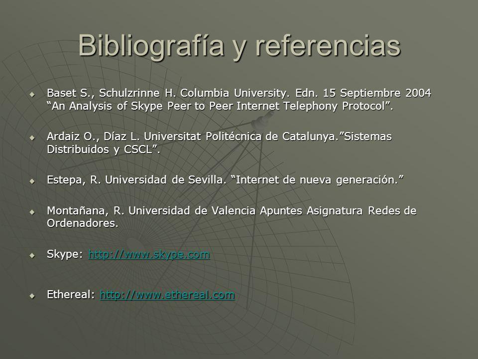 Bibliografía y referencias