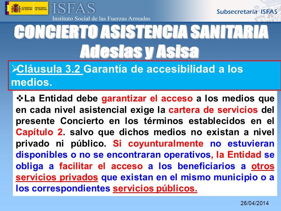 CONCIERTO ASISTENCIA SANITARIA
