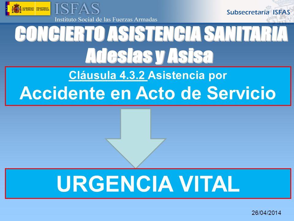 CONCIERTO ASISTENCIA SANITARIA Adeslas y Asisa