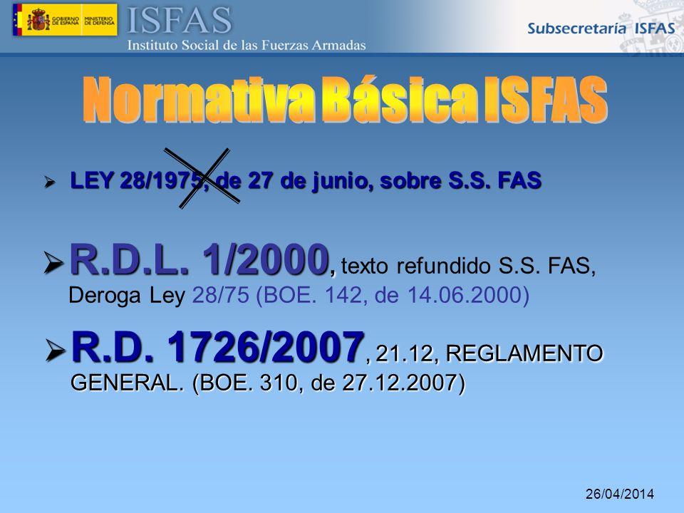 Normativa Básica ISFAS