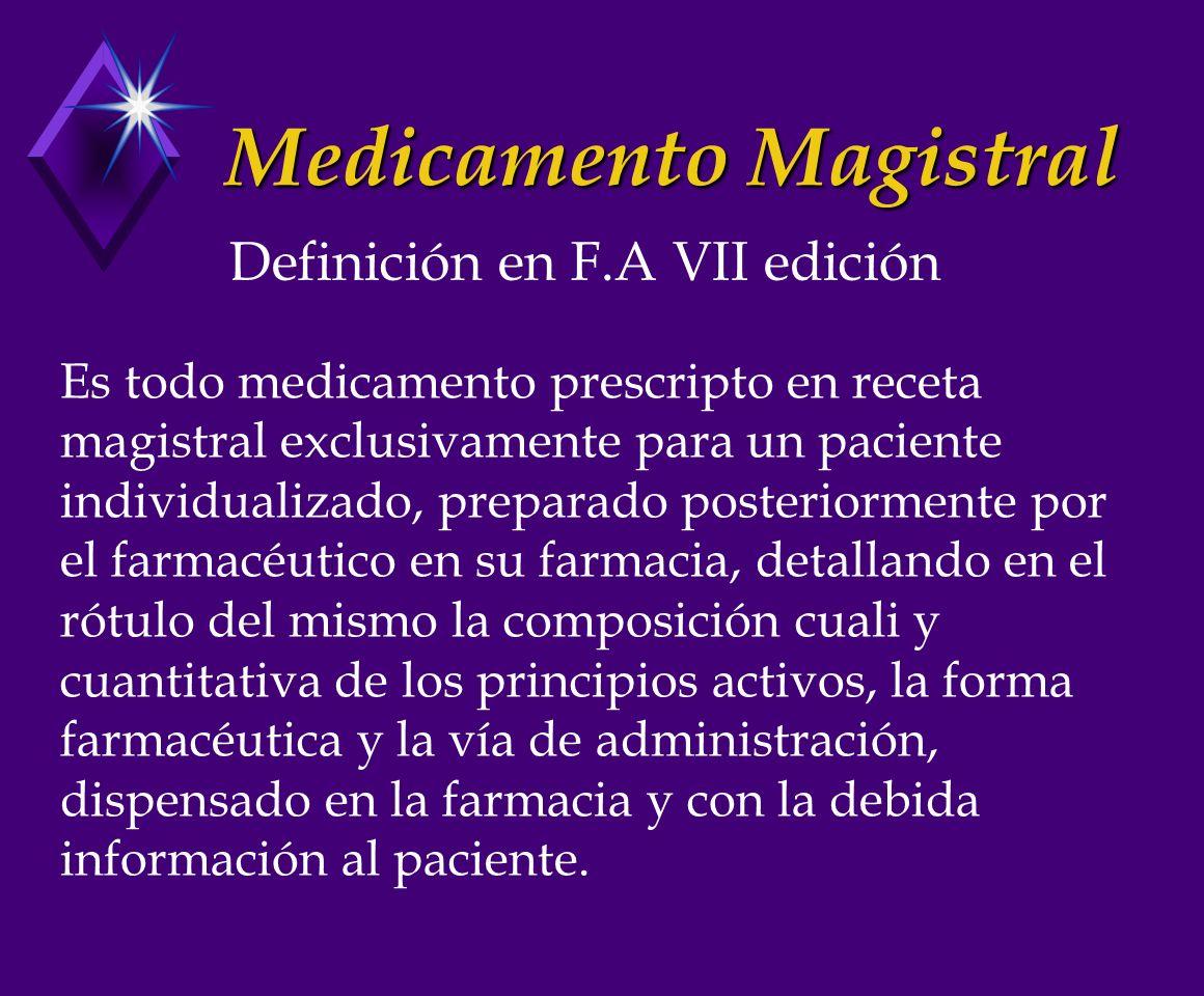 Medicamento Magistral
