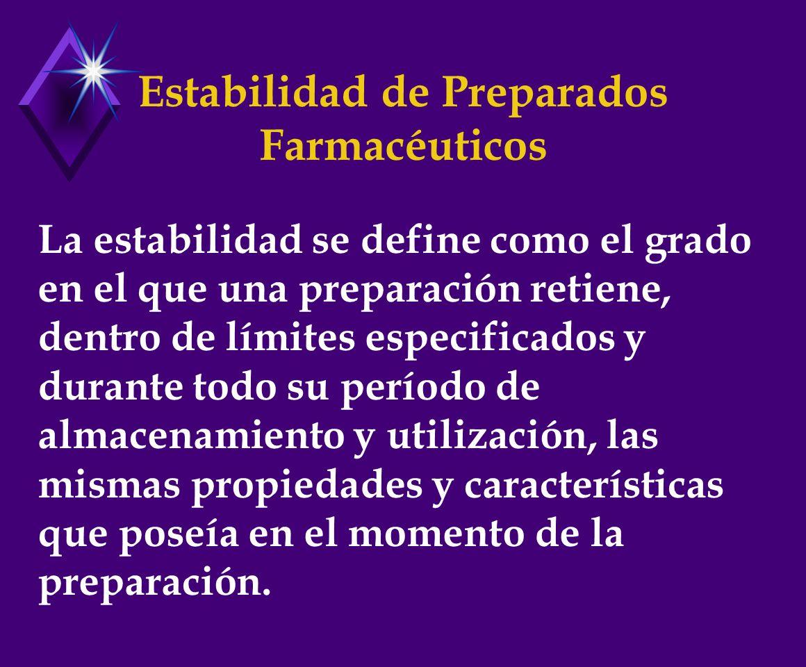 Estabilidad de Preparados Farmacéuticos