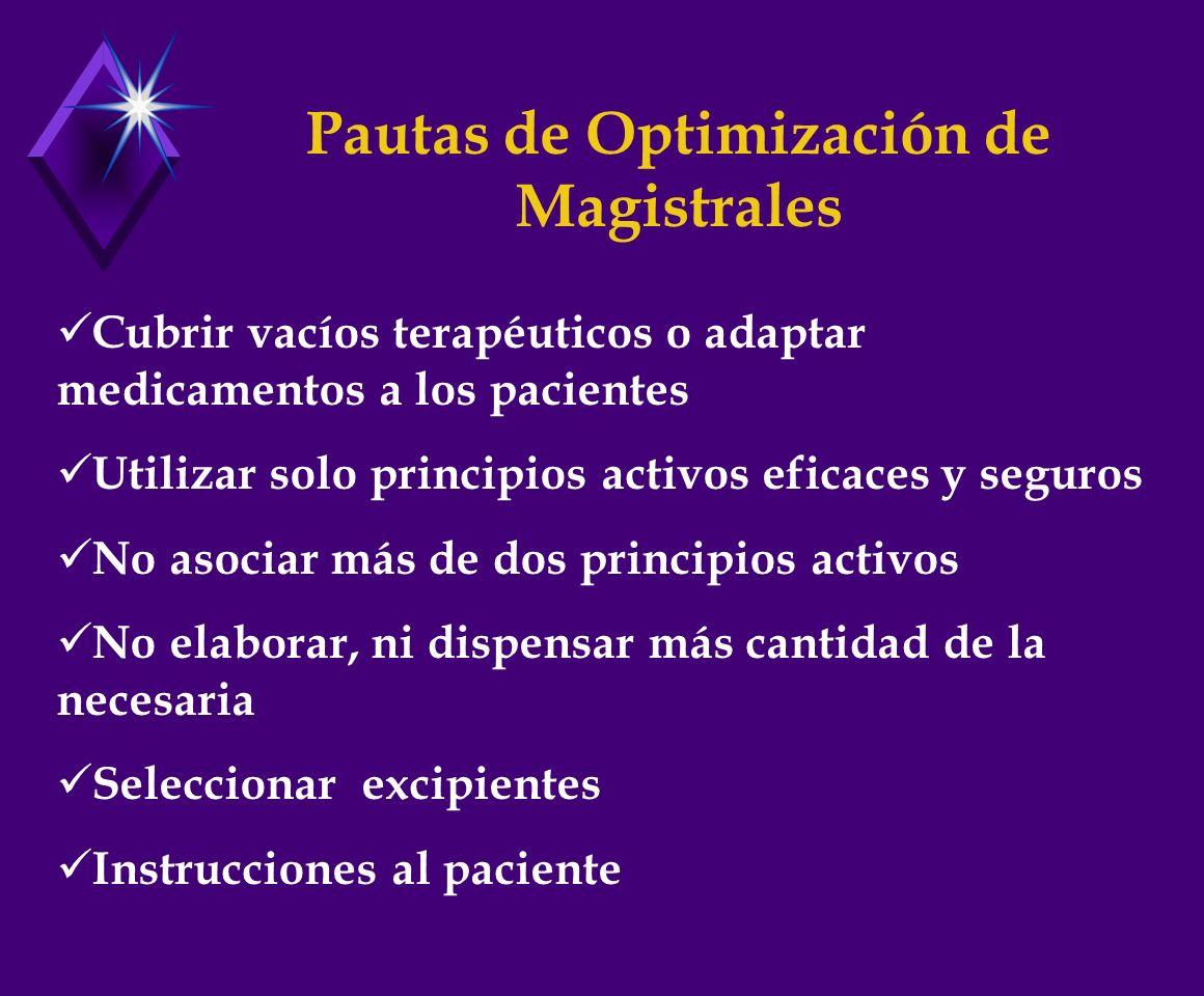 Pautas de Optimización de Magistrales