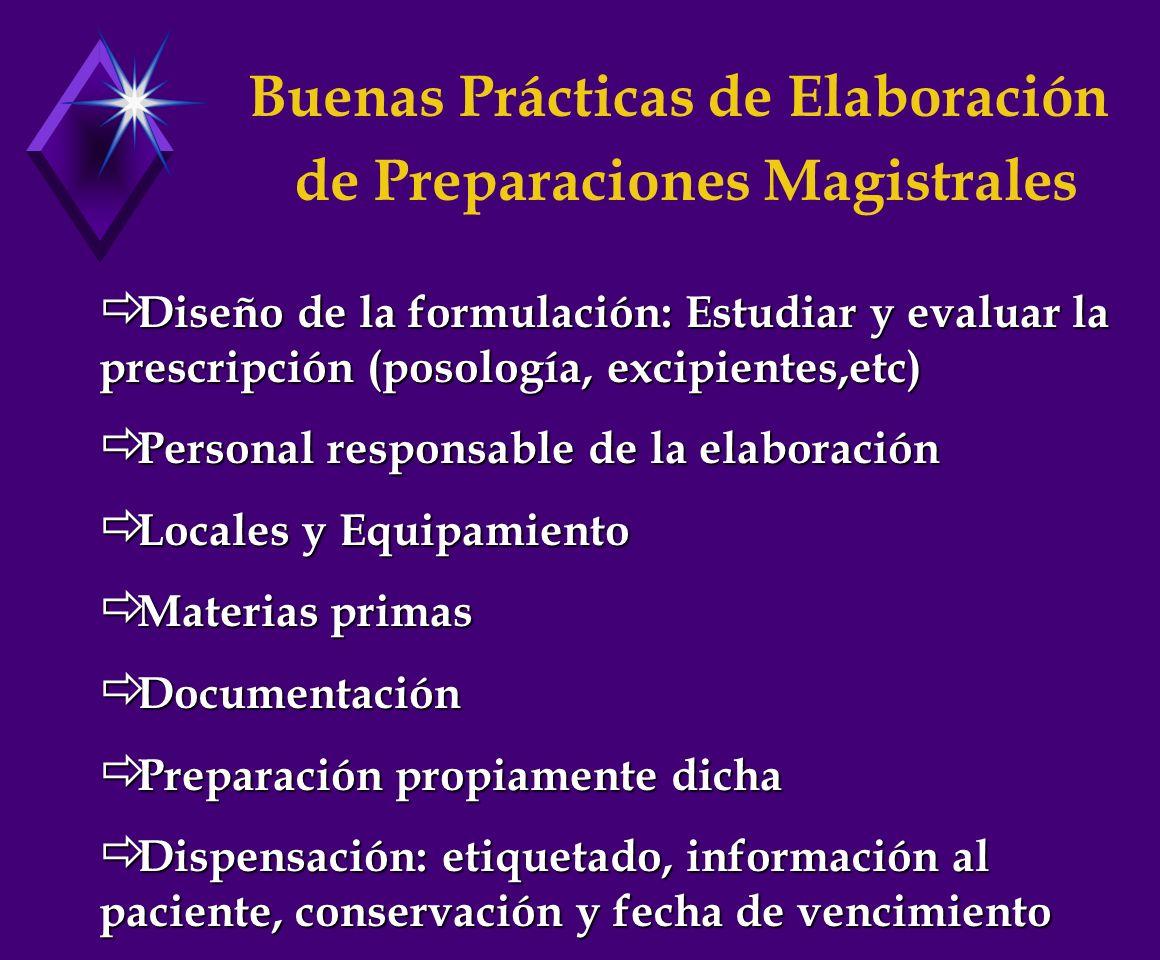 Buenas Prácticas de Elaboración de Preparaciones Magistrales