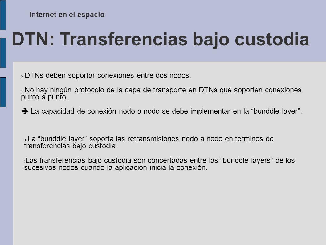 DTN: Transferencias bajo custodia