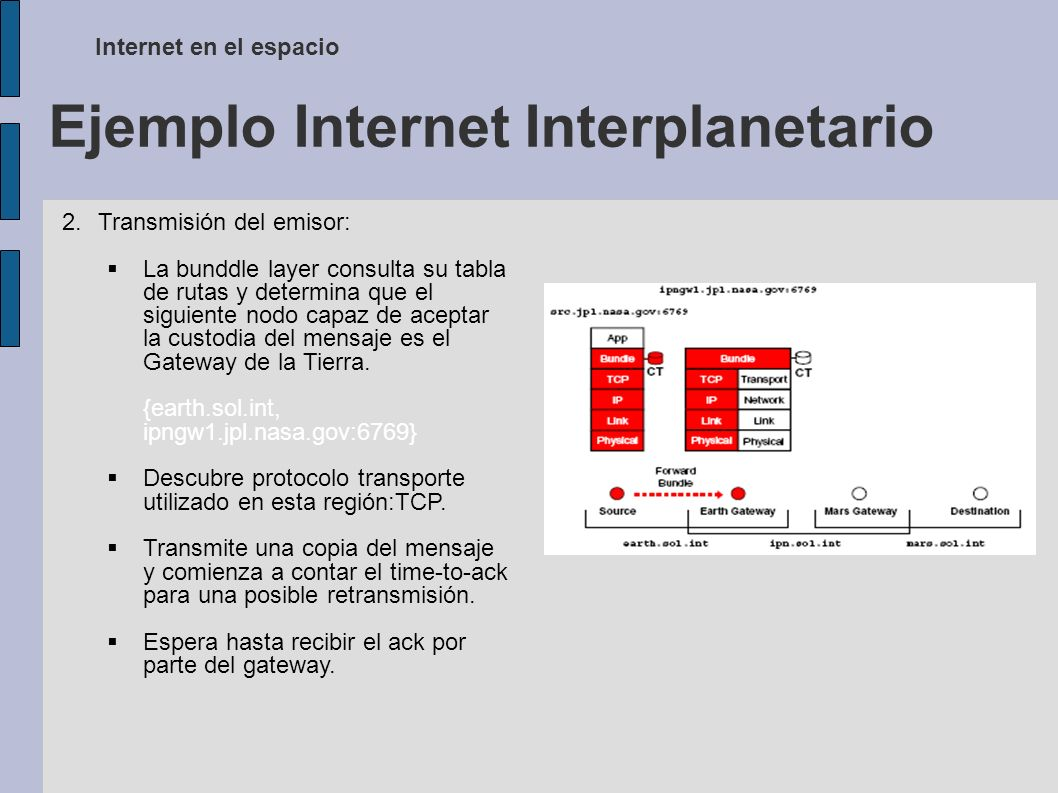 Ejemplo Internet Interplanetario