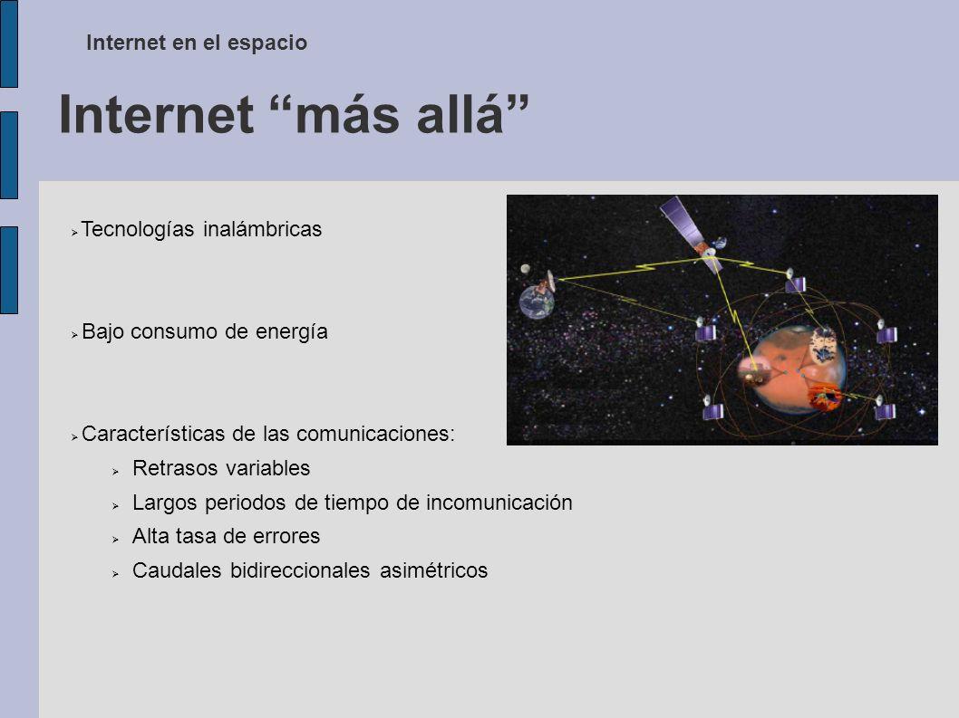 Internet más allá Internet en el espacio Tecnologías inalámbricas