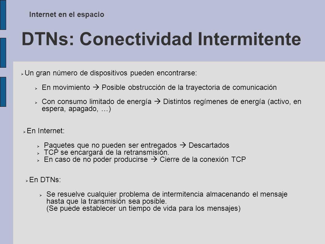 DTNs: Conectividad Intermitente