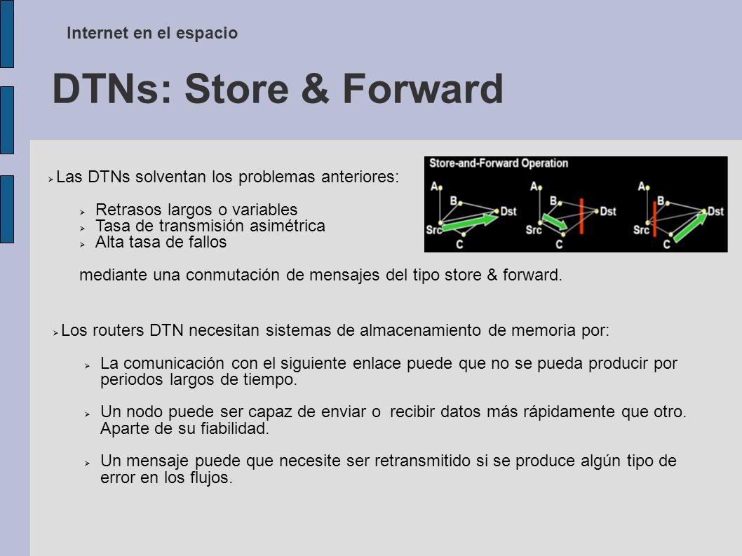 DTNs: Store & Forward Internet en el espacio