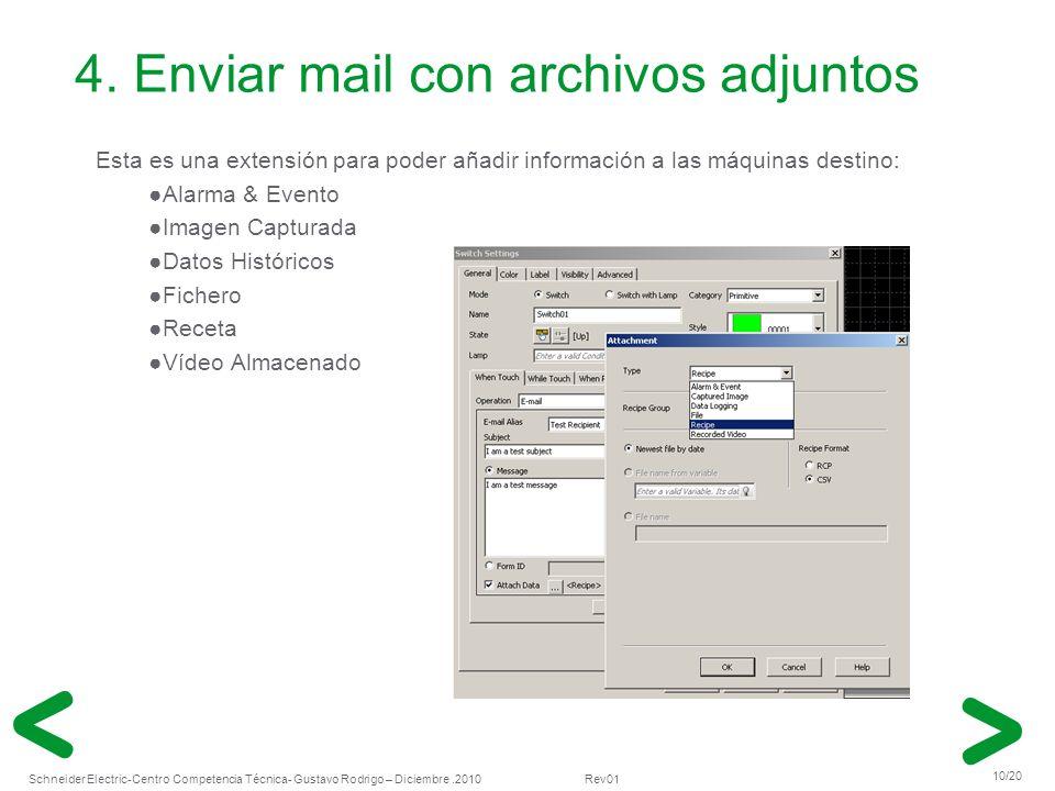 4. Enviar mail con archivos adjuntos