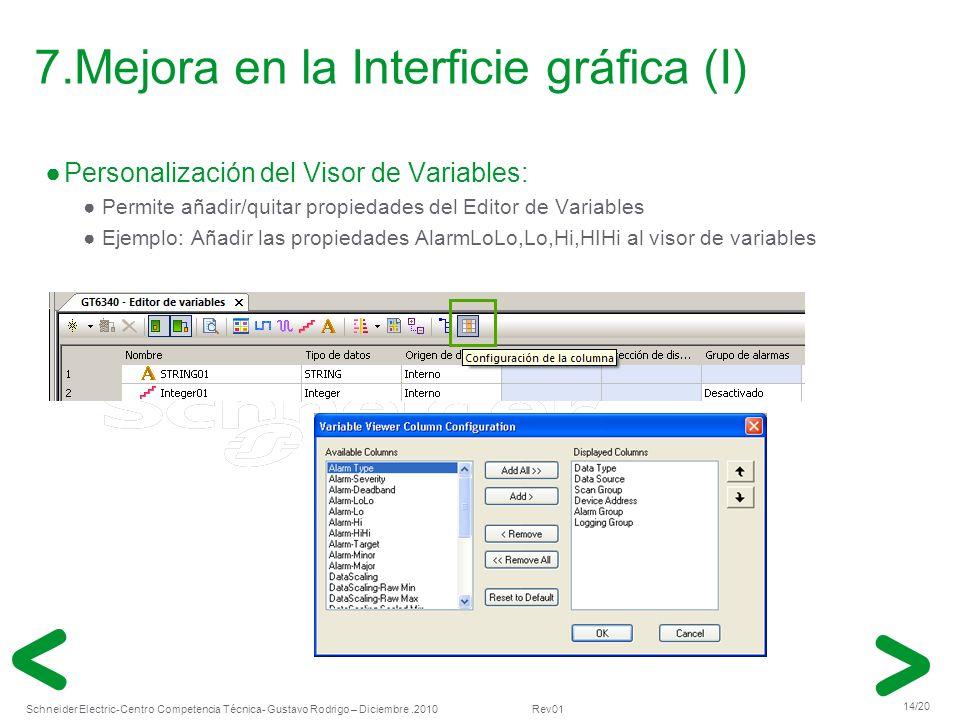 7.Mejora en la Interficie gráfica (I)