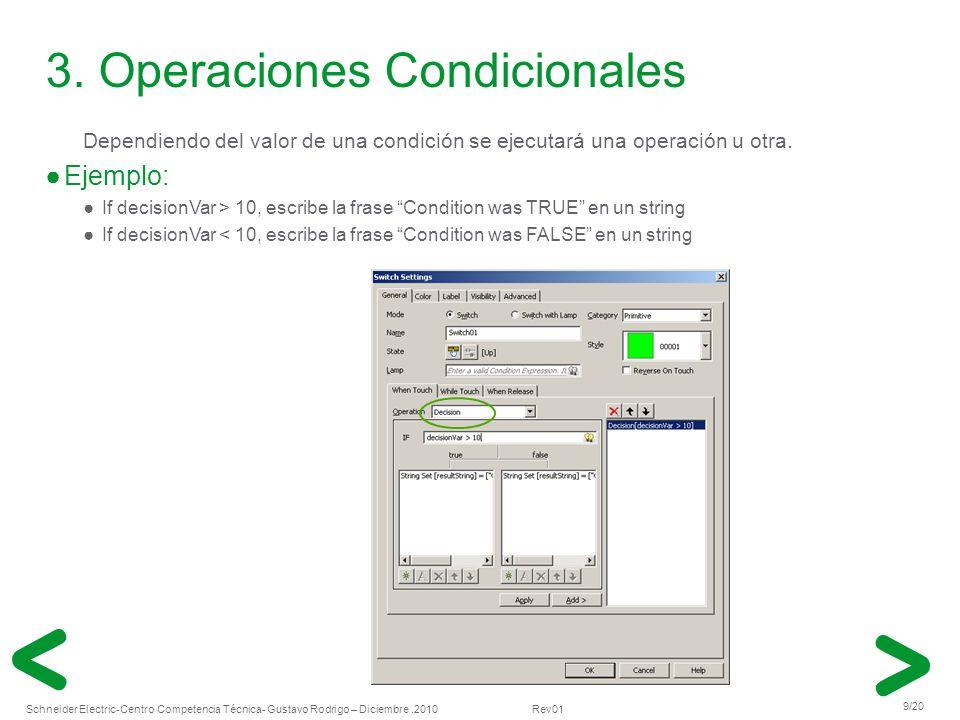 3. Operaciones Condicionales
