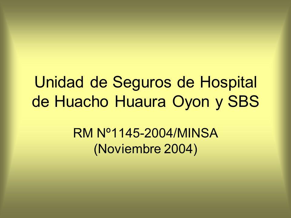 Unidad de Seguros de Hospital de Huacho Huaura Oyon y SBS