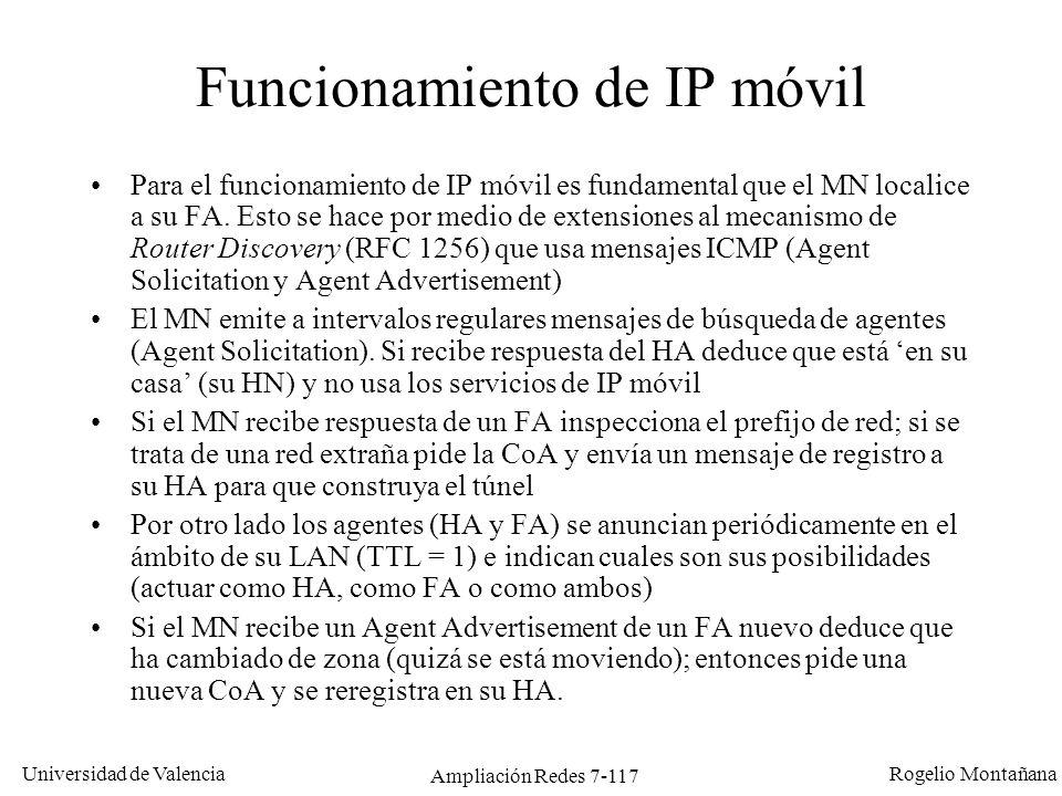 Funcionamiento de IP móvil