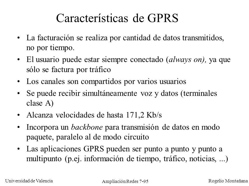 Características de GPRS