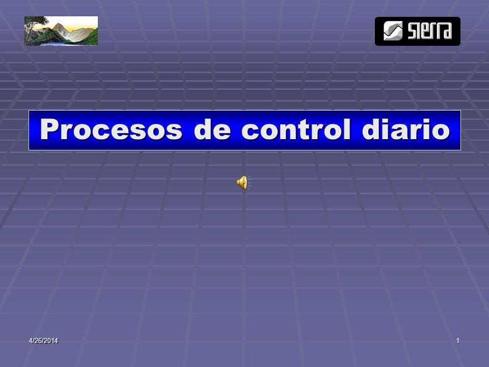 Procesos de control diario
