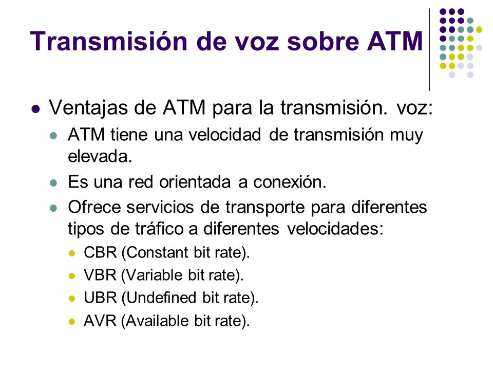 Transmisión de voz sobre ATM