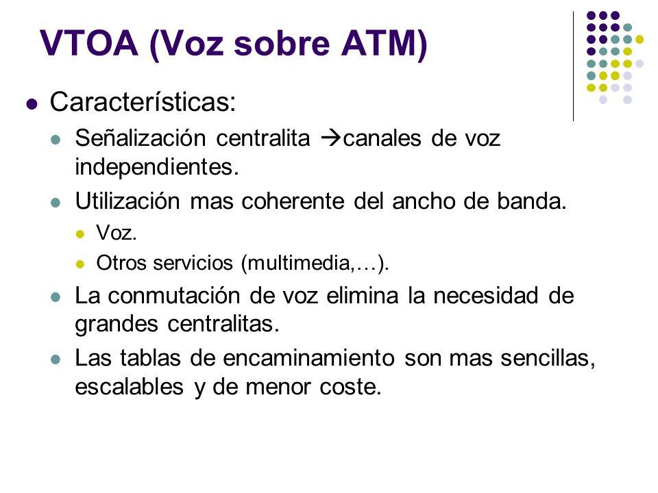 VTOA (Voz sobre ATM) Características: