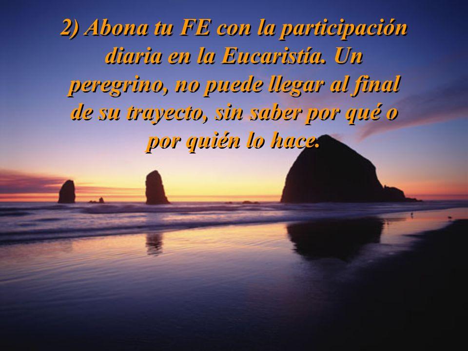 2) Abona tu FE con la participación diaria en la Eucaristía