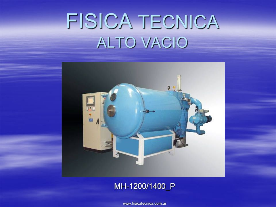 FISICA TECNICA ALTO VACIO