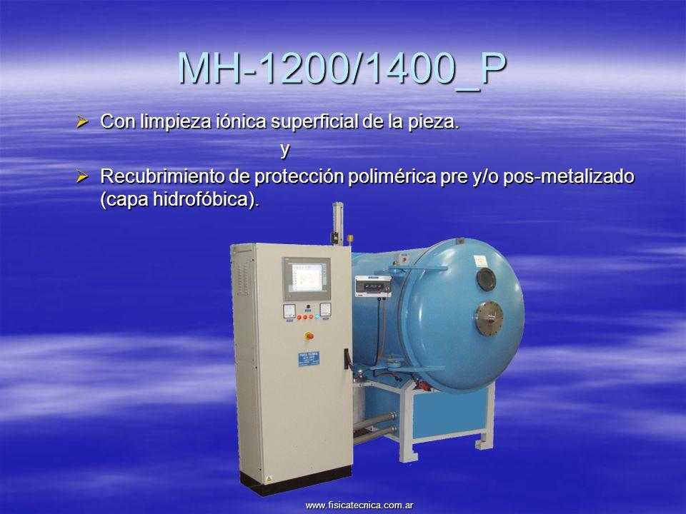 MH-1200/1400_P Con limpieza iónica superficial de la pieza. y